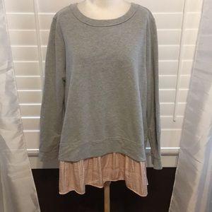 Lane Bryant Gray/Pink Sweatshirt - Sz 18/20